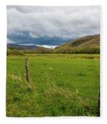 Clouds Over The Hills Fleece Blanket