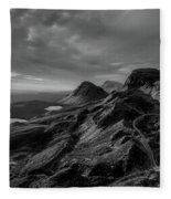 Clouds Over The Isle Of Skye Fleece Blanket