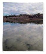 Clouds Reflect Fleece Blanket