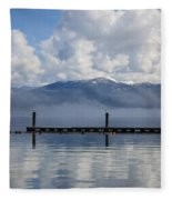 Clouds Reflecting Off Priest Lake Fleece Blanket