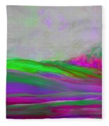 Clouds Rolling In Abstract Landscape Purple And Hot Pink Fleece Blanket