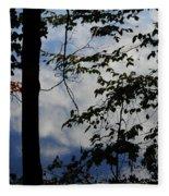 Clouds Tree Water Fleece Blanket