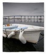 Cloudy Coronado Island Boat Fleece Blanket
