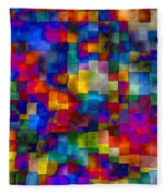 Cloudy Cubes Fleece Blanket