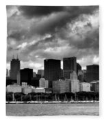 Cloudy Day Chicago - 2 Fleece Blanket