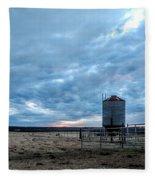 Cloudy Day On The Ranch Fleece Blanket