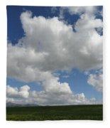 Cloudy Mustard Fleece Blanket