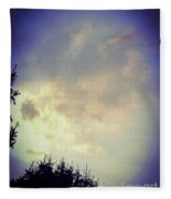Cloudy Sky Before A Storm Fleece Blanket