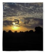 Cloudy Sunset Fleece Blanket