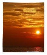 Cloudy Sunset On Lake Ontario - 27 August 2018 Fleece Blanket