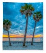 Cloudy Sunset -tampa, Florida Fleece Blanket