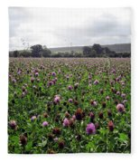 Clover Field Wiltshire England Fleece Blanket
