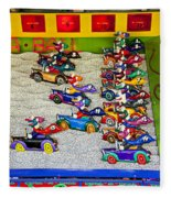 Clown Car Racing Game Fleece Blanket