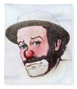 Clown Emmett Kelly Fleece Blanket
