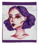 Clown Girl Fleece Blanket
