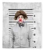 Clown Mug Shot Fleece Blanket