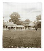 Club House And Golf Links, Old Del Monte, Monterey, California Circa 1920 Fleece Blanket