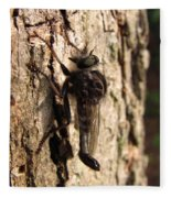 Club Tailed Robber Fly Fleece Blanket