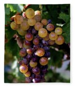 Cluster Of Ripe Grapes Fleece Blanket