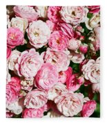 Cluster Of Roses  Fleece Blanket