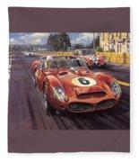 Cma 051 1962 Le Mans Ferrari 330 Driver Phil Hill Roy Rob Fleece Blanket