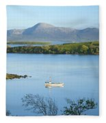 Co Mayo, Ireland Fishing Boat In Clew Fleece Blanket