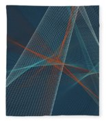 Coast Computer Graphic Line Pattern Fleece Blanket