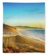 Coast Highway Del Mar Fleece Blanket