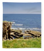 Coast. Seascape 1. Fleece Blanket
