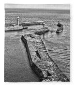 Coast - Whitby Harbour Fleece Blanket