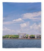 Coastal Area Of Charleston Fleece Blanket