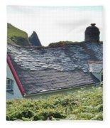 Coastal Cottage Nestled In Sunshine Fleece Blanket
