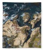 Coastal Crevices Fleece Blanket