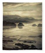 Coastal Dawn Fleece Blanket