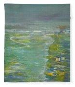 Coastal House Fleece Blanket