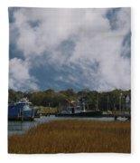 Coastal Island Town Fleece Blanket