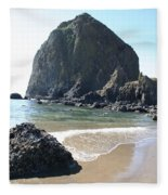 Coastal Landscape - Cannon Beach Afternoon - Scenic Lanscape Fleece Blanket