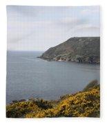 Coastal Path Cornwall Fleece Blanket
