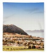 Coastal Tasmanian Town Fleece Blanket
