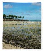 Coastal Textures Fleece Blanket