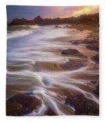 Coastal Whispers Fleece Blanket