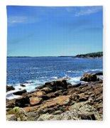 Coastline At Otter Point 5 Fleece Blanket