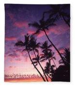 Coastline Palms Fleece Blanket