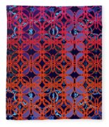 Cobalt Crimson Fleece Blanket