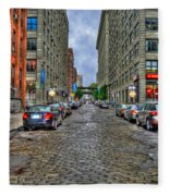 Cobblestone Brooklyn From Dumbo Fleece Blanket