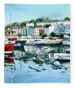 Cobh Harbour County Cork Fleece Blanket