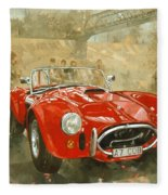Cobra At Brooklands Fleece Blanket