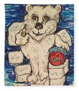 Coca Cola Bear Fleece Blanket