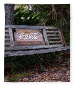 Coca Cola Bench Fleece Blanket