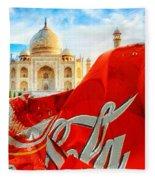 Coca-cola Can Trash Oh Yeah - And The Taj Mahal Fleece Blanket